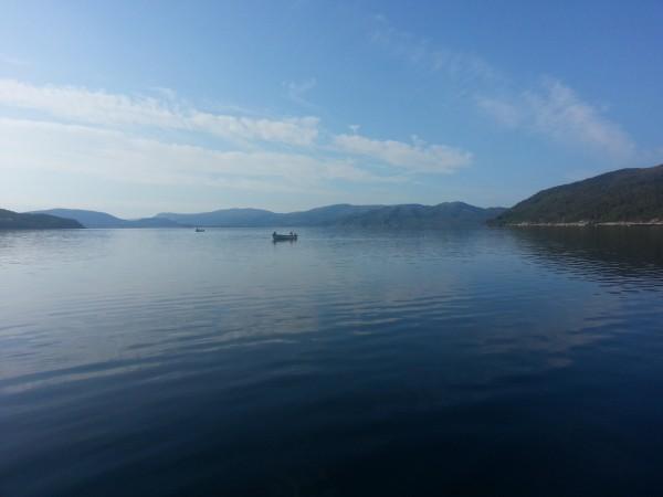 Der Velfjord Im September in Mit dem Flugzeug zum Angeln nach Norwegen